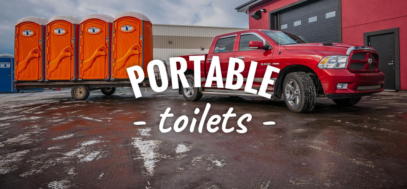 Portable Toilets For Rent | Edmonton & Parkland County